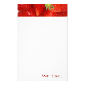 Sweet Strawberries Floral Stationery