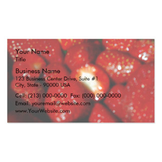 Sweet strawberries in the grocery pack of standard business cards