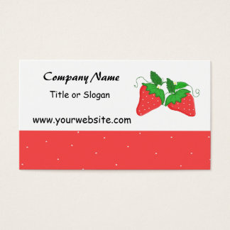 Sweet Strawberry Business Cards