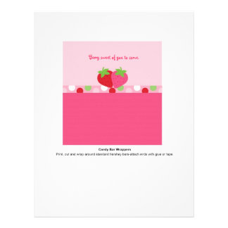 Sweet Strawberry Candy Bar Wrappers 21.5 Cm X 28 Cm Flyer