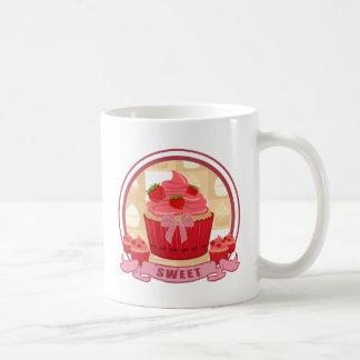Sweet Strawberry Cupcake Mugs