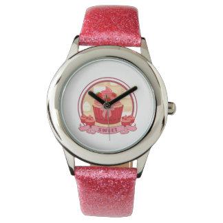Sweet Strawberry Cupcake Wristwatches