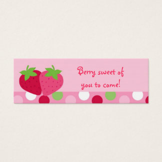 Sweet Strawberry Favor Gift Tags