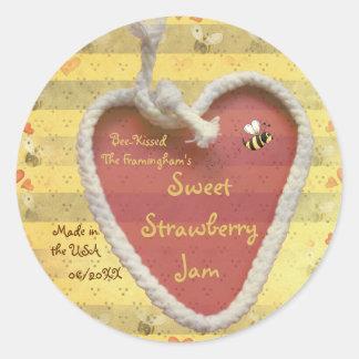 Sweet Strawberry Jam Jar Label (Customise)