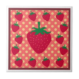 sweet strawberry pattern Tile