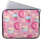 Sweet Strawberry Pink Treats Laptop Sleeve