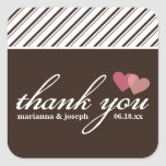 Sweet Stripes Personalised Thank You Sticker