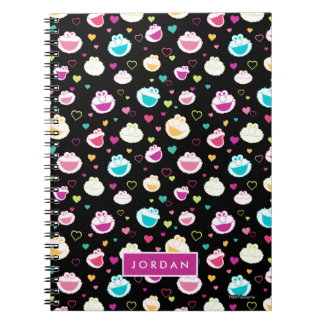 Sweet Stuff Heart Pattern   Add Your Name Spiral Notebook