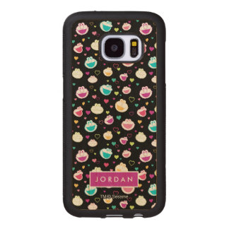 Sweet Stuff Heart Pattern | Add Your Name Wood Samsung Galaxy S7 Case