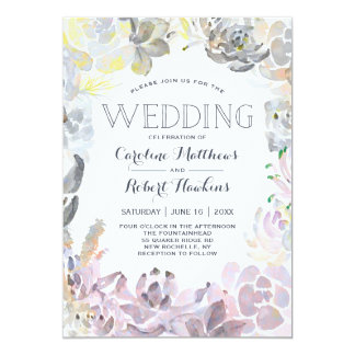 Sweet Succulents Wedding Invitation