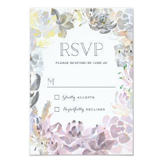 Sweet Succulents Wedding RSVP 9 Cm X 13 Cm Invitation Card
