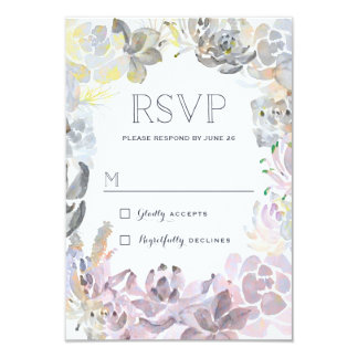 Sweet Succulents Wedding RSVP Card