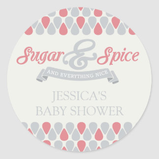SWEET Sugar and Spice Baby Shower Stickers