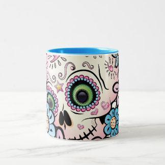 Sweet Sugar Skull Two-Tone Coffee Mug
