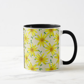 Sweet Summer Botanical Yellow Wildflower with Name Mug