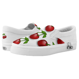 Sweet Summer Cherries Slip-On Shoes