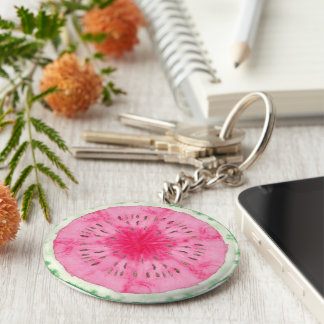 Sweet Summer Fun Melon Fruit Party Key Ring