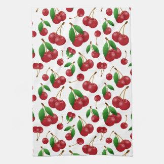 sweet summertime cherries towels