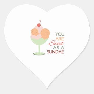 Sweet Sundae Heart Stickers