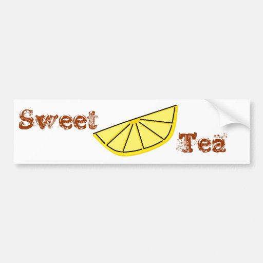 Sweet Tea Bumper Sticker