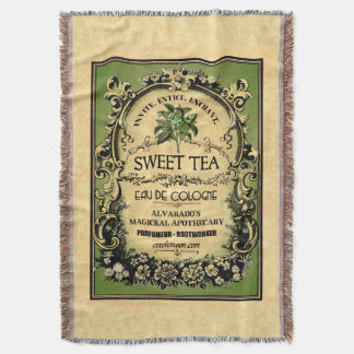 Sweet Tea Eau de Cologne Boho Art Blanket