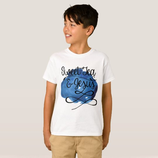 Sweet Tea & Jesus CHILDS - BLUE T-Shirt