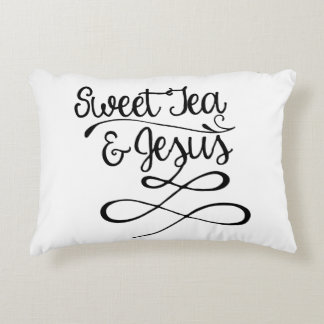 Sweet Tea & Jesus Decorative Cushion