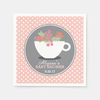 Sweet Teacup Baby Shower Disposable Serviette