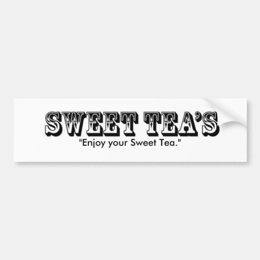 "sweet-teas, ""Enjoy your Sweet Tea."" Bumper Sticker"