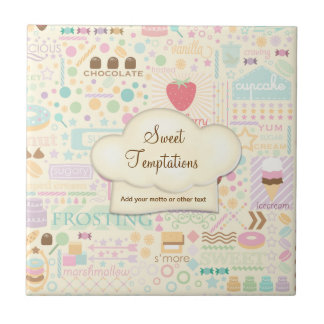 Sweet Temptations Bakery Boutique - Customize Ceramic Tile