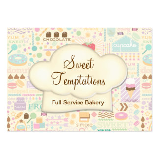 Sweet Temptations Bakery Boutique Pack Of Chubby Business Cards