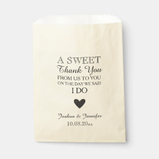Sweet Thank You Wedding Favor Candy Bar Buffet Favour Bag