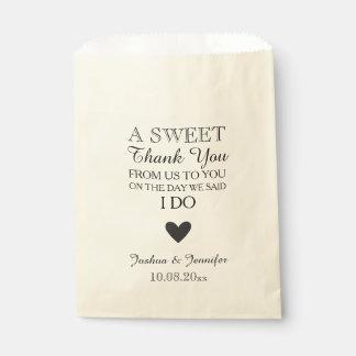 Sweet Thank You Wedding Favor Candy Bar Buffet Favour Bag
