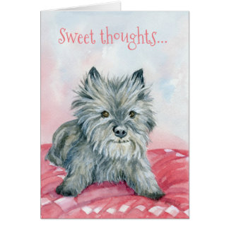 Sweet thoughts Cairn card