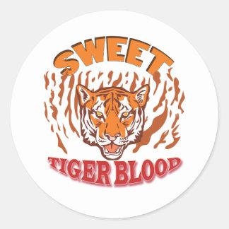 Sweet Tiger Blood Classic Round Sticker