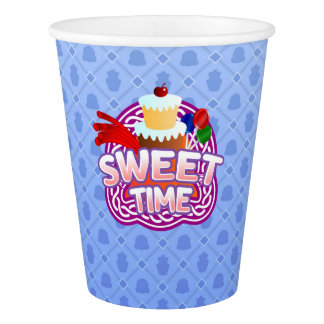 Sweet Time blue Paper Cup