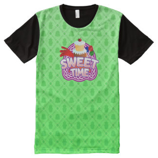 Sweet Time green All Printed T-Shirt