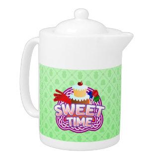 Sweet Time green Teapot
