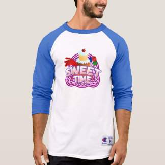 Sweet Time Men's blue Raglan T-shirt