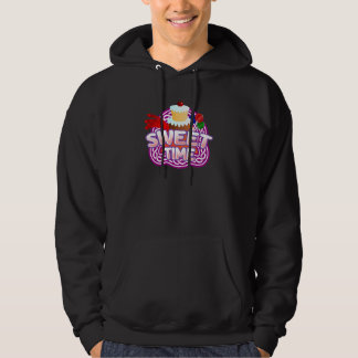 Sweet Time Men's dark hooded sweatshirt