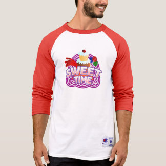 Sweet Time Men's red Raglan T-shirt
