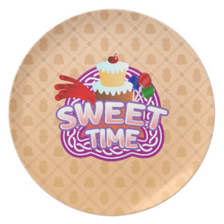 Sweet Time orange Melamine Plate