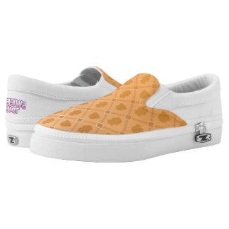 Sweet Time orange Slip Ons
