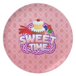 Sweet Time pink Melamine Plate