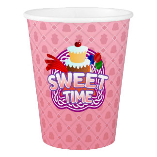 Sweet Time pink Paper Cup