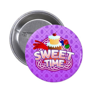 Sweet Time purple Button