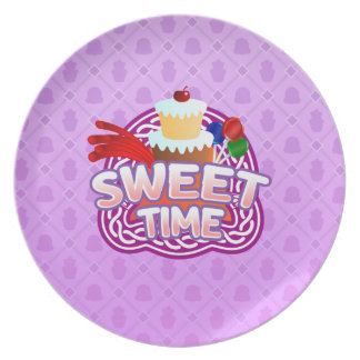 Sweet Time purple Melamine Plate