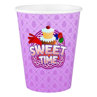 Sweet Time purple Paper Cup