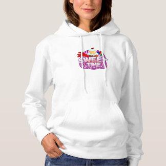 Sweet Time Women's white hooded sweatshirt