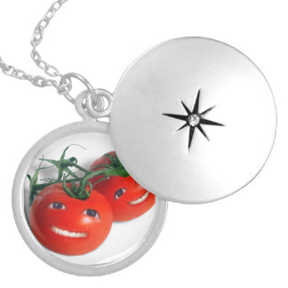 Sweet Tomatoes Silver Plated Necklace